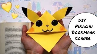 DIY Pikachu Bookmark Corner | Pokemon Go | Easy back to school supplies | Easy paper craft