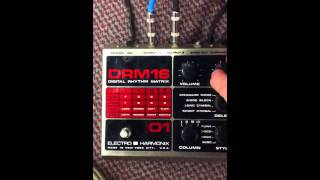 Electro Harmonix DRM16 Demo vintage drum machine