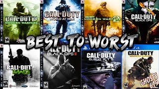Ranking Every CoD From BEST to WORST