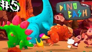 Динозавры Атака Троглодитов #5.DINO BASH игры динозавры как мультики про динозавров.Dinosaurs.