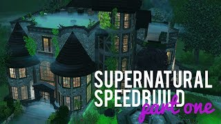 The Sims 3 Speed Build — Supernatural Build — Part one w/ Midnight Simmer