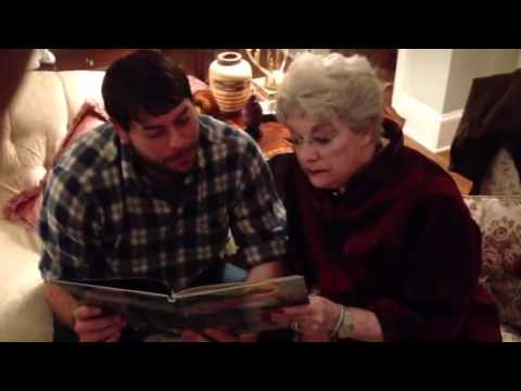 Grandmother reads a Cajun Christmas Story