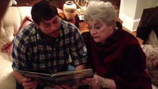 Grandmother reads a Cajun Christmas Story