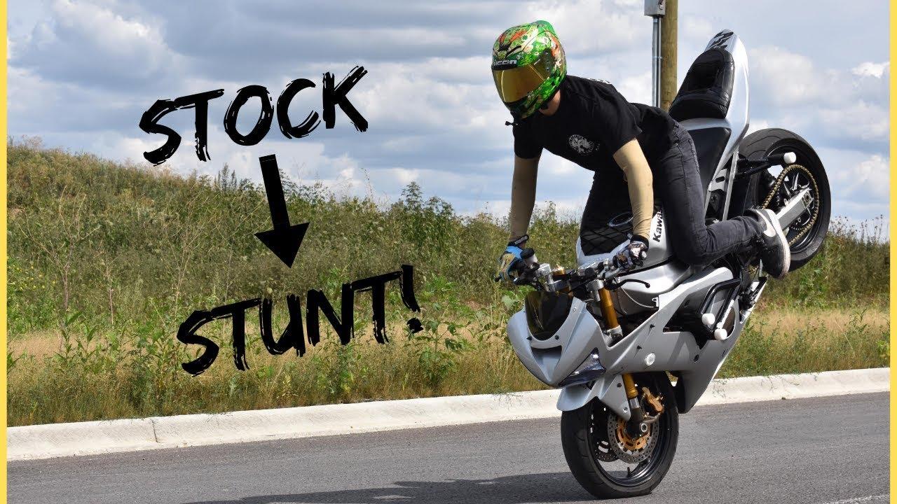 STOCK to STUNT! How to Build FULL Kawasaki 636 Stunt Bike