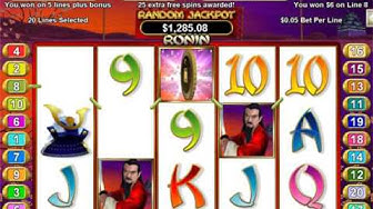 Ronin Slot RTG   Repin Feature and Freespins Feature in 2 Spins