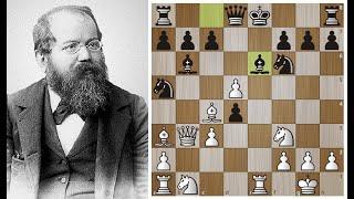 Стейниц ЖЕРТВУЕТ ферзя в ДЕБЮТЕ! РОК на шахматной доске получает МАТ! Шахматы.