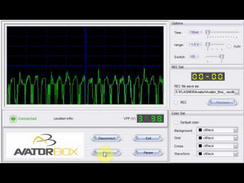 oscilloscope how to read error