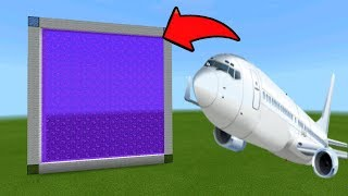 Minecraft Pe How To Make a Portal To The Airplane Dimension - Mcpe Portal To Airplane!!!