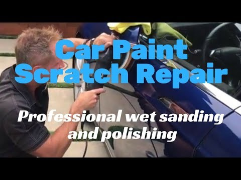 Car Paint Scratch Repair: Professional wet sanding and polishing