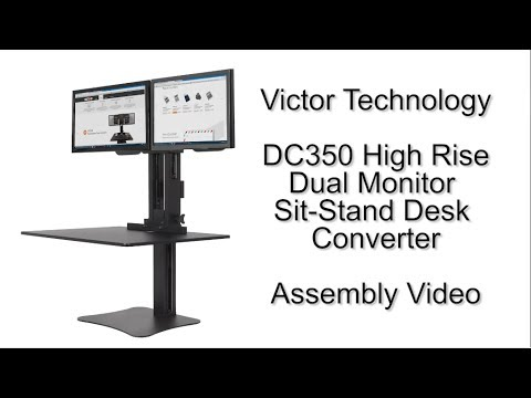 Dc350 Dual Monitor Standing Desk Assembly Video Youtube