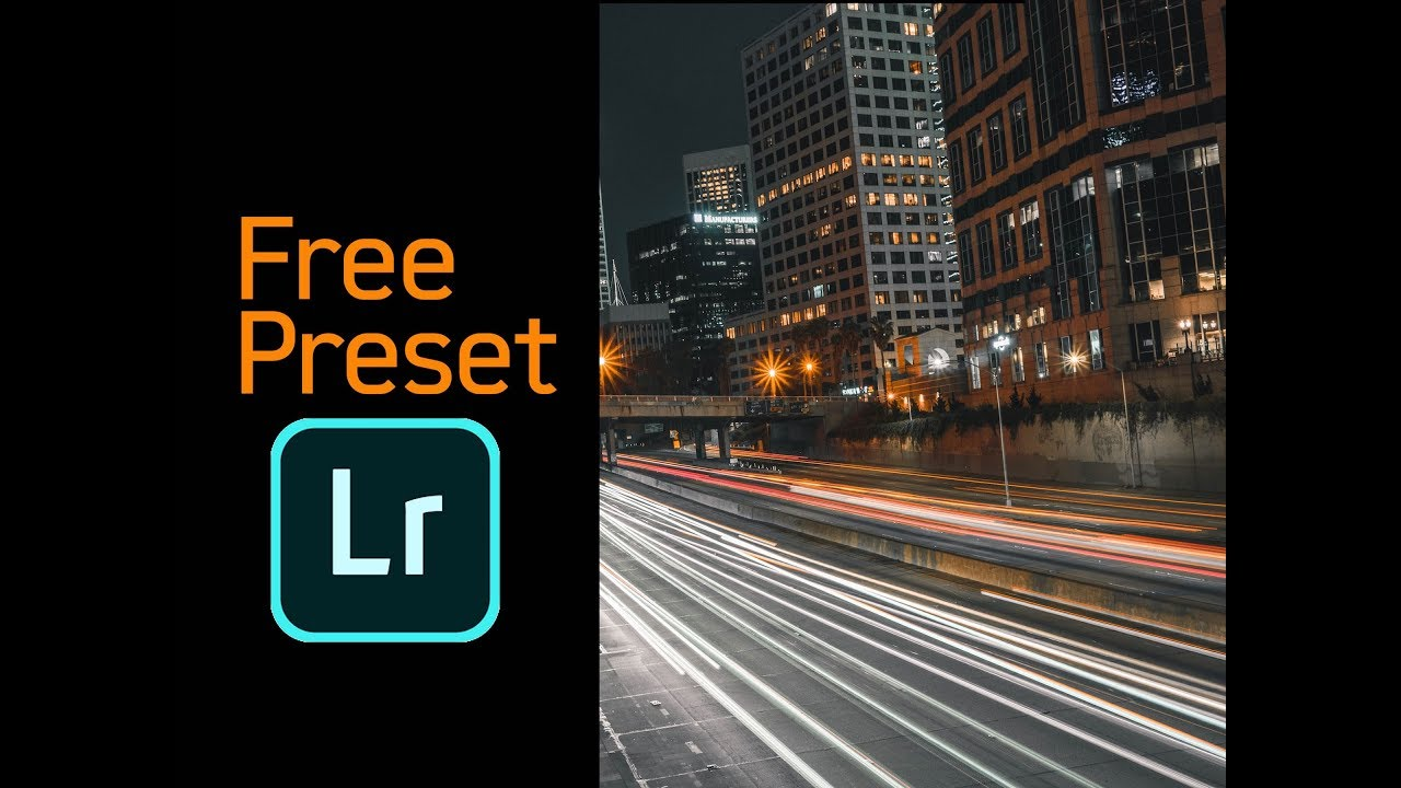 Free Lightroom Preset for Moody Urban & City Nightscapes
