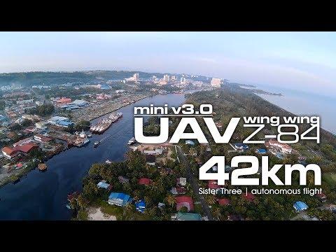 42km Sister three - UAV Wing Wing Z-84 V3.0