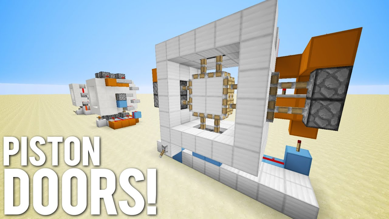 Minecraft 3 Simple Piston Door Designs