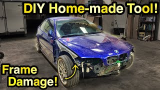 Fixing OVER 800$ Worth of FRAME DAMAGE for Just 30$ On A Rare ZCP BMW e46 M3! Part 2