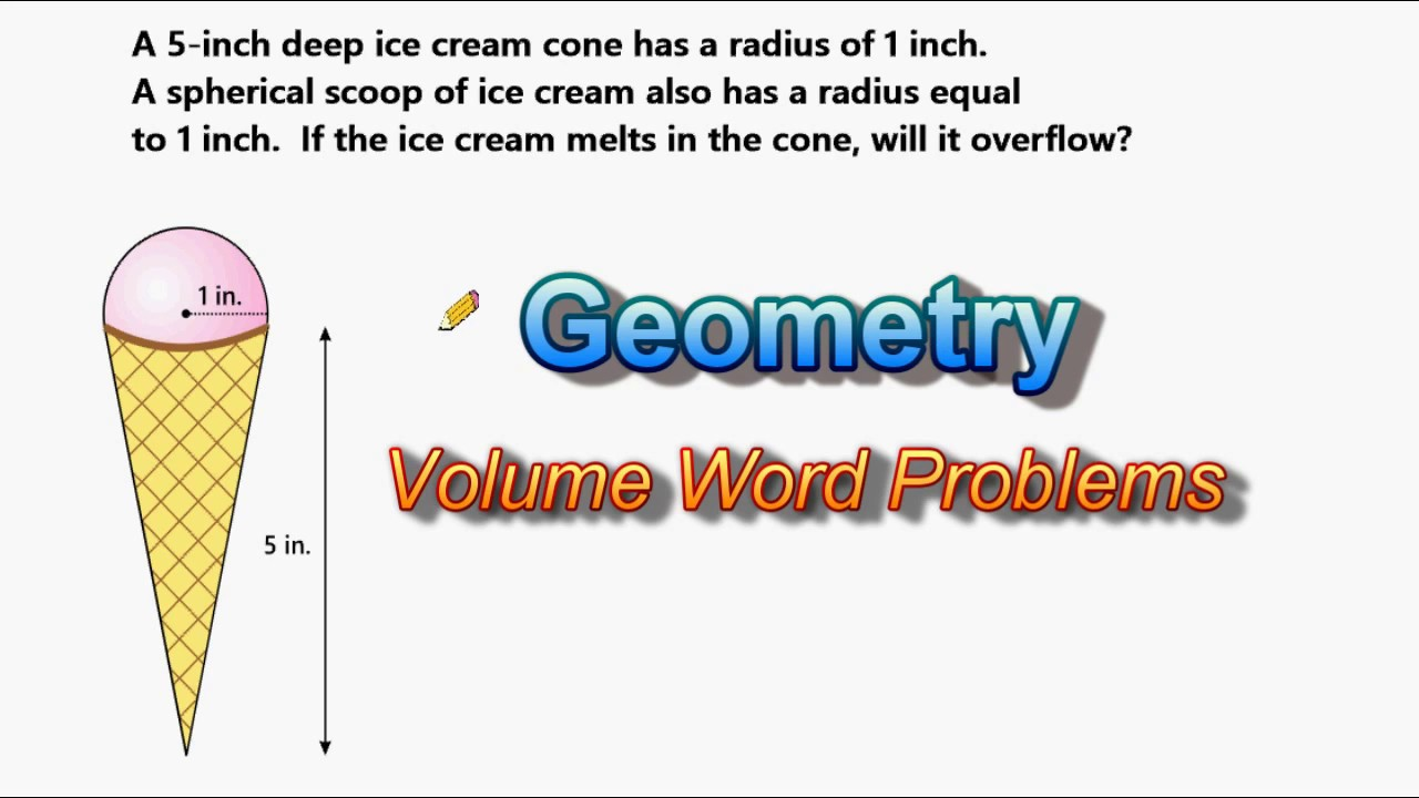 small resolution of Volume Of Cones And Spheres - Word Problem - YouTube