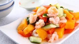 【楊桃美食網】酸辣芒果蝦