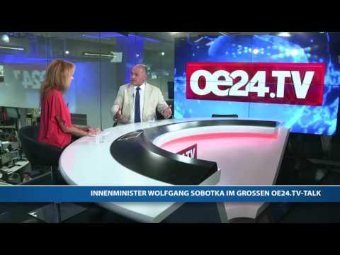 Innenminister Sobotka im großen oe24.TV-Talk
