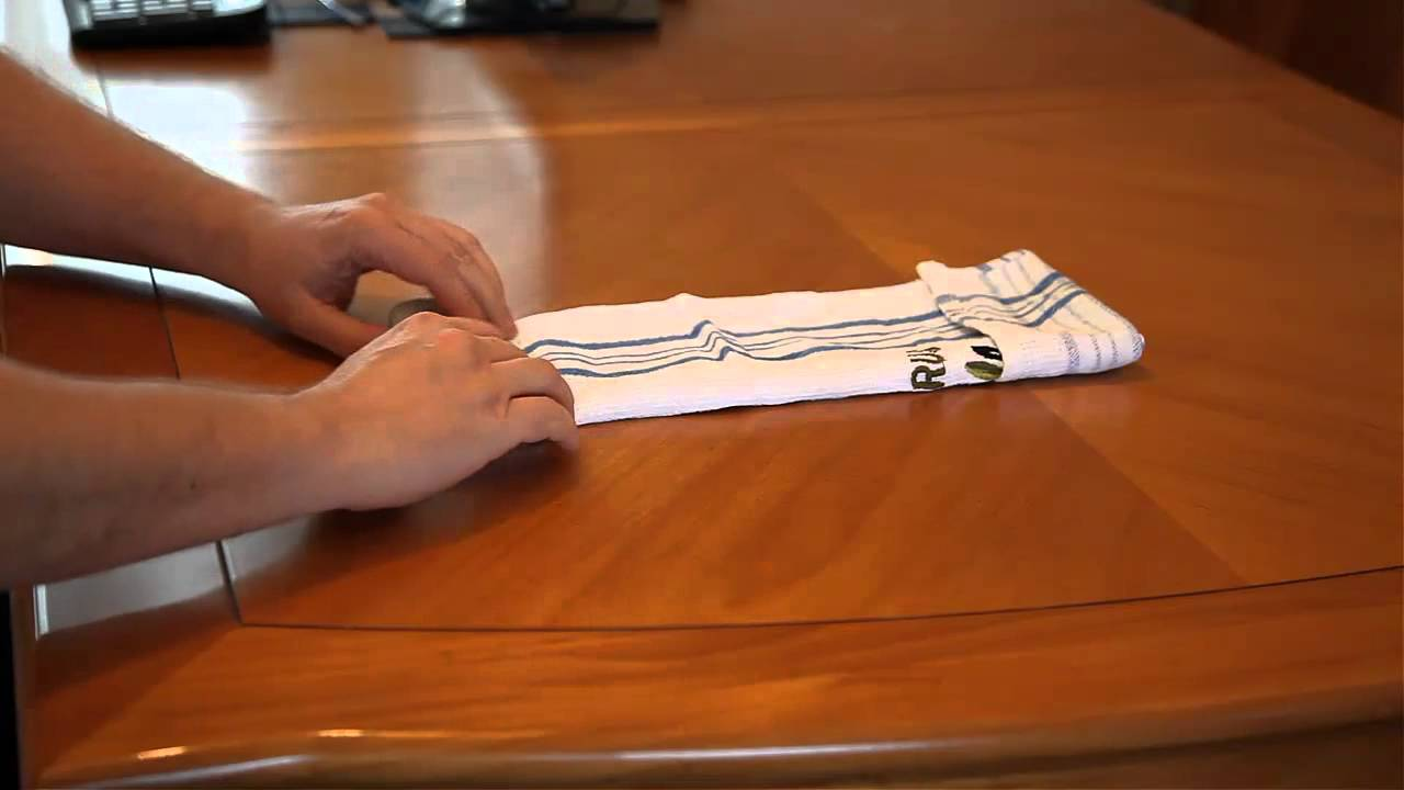 towel for kitchen funnels folding a tea man's survival guide - youtube