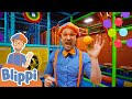 Blippi Visits A Kids Indoor Playground! Learn Colors For Kids Educationals For Kids