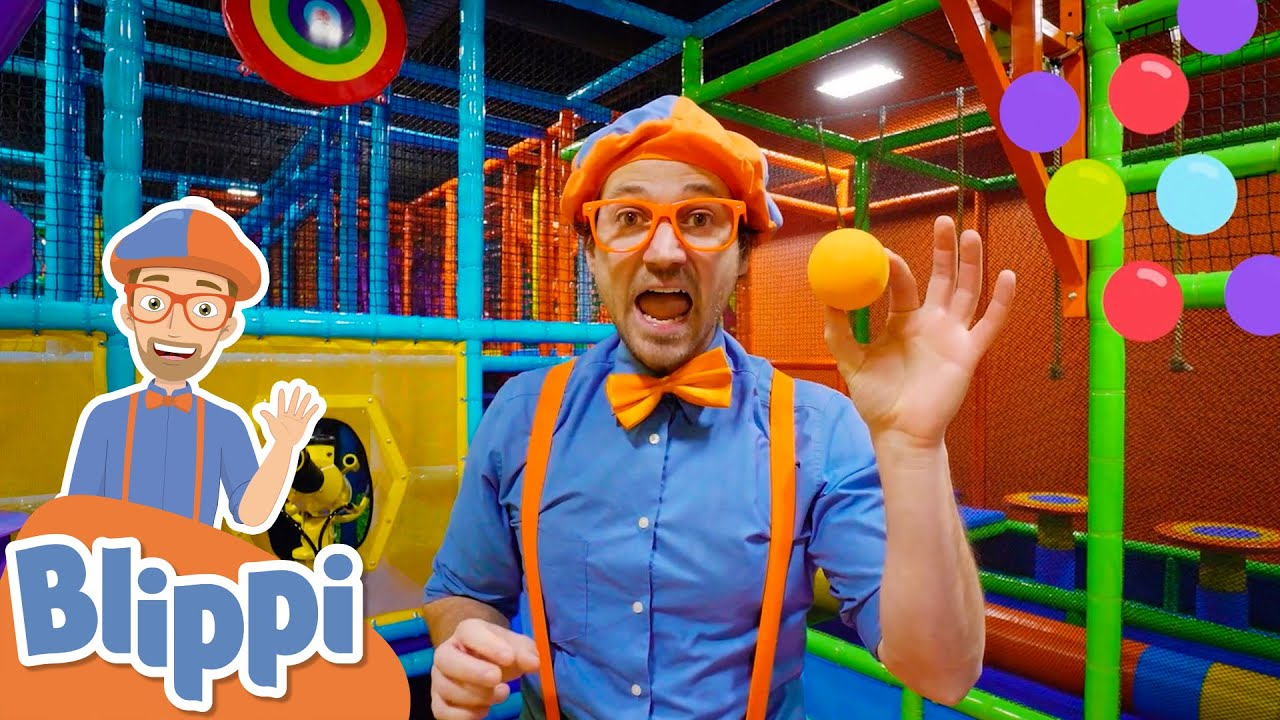 Blippi Visits A Kids Indoor Playground! | Learn Colors For Kids | Educational Videos For Kids