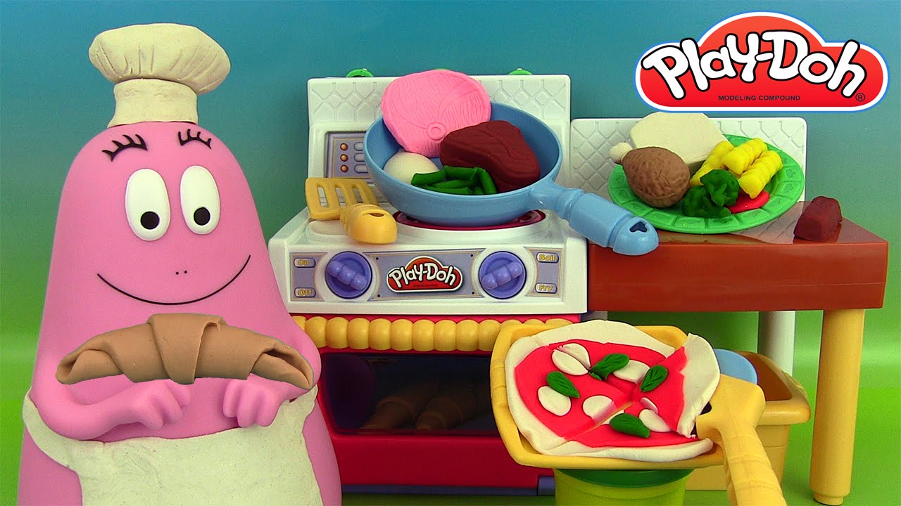 p te modeler le super cuistot play doh meal makin 39 kitchen play doh barbapapa youtube. Black Bedroom Furniture Sets. Home Design Ideas
