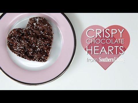 How to Make Crispy Chocolate Hearts | MyRecipes
