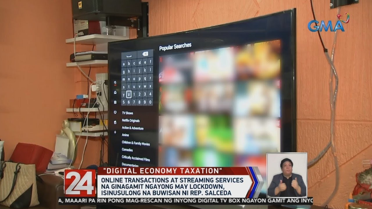 24 Oras: Online transactions at streaming services, isinusulong na buwisan ni Rep. Salceda