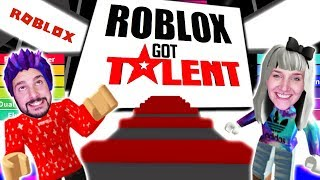 "Roblox: FROM ""THE SUPERTALENT"" KAAN + NINA CAUGHT IN THE CASTING SHOW! Roblox Got Talent"
