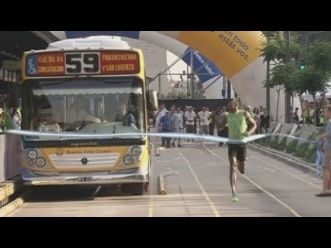 Usain Bolt: Can the world's fastest man beat a bus?