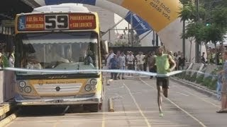 Usain Bolt: Can the world's fastest man beat a bus? thumbnail