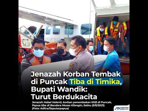 Jenazah Korban Tembak di Puncak Tiba di Timika, Bupati Wandik: Turut Berdukacita