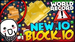 BRAND NEW .IO GAME: WORLD RECORD + CRASHING THE SERVER (Blockor.io -Games like Agar.io & Slither.io)