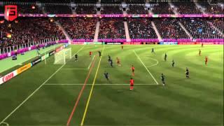 Gameplay FIFA 12 Euro 2012 Frankrijk - Spanje [PC, PlayStation 3, Xbox 360]