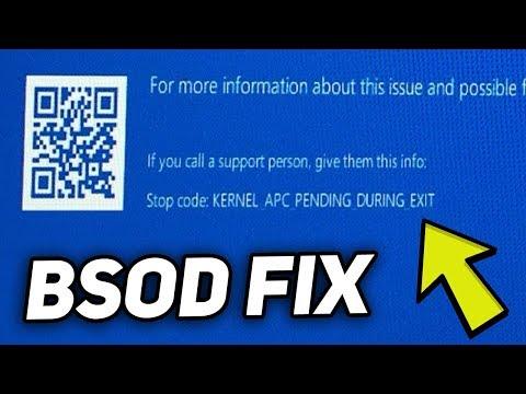 """Fix: """"KERNEL_APC_PENDING_DURING_EXIT"""" BSOD Error"""