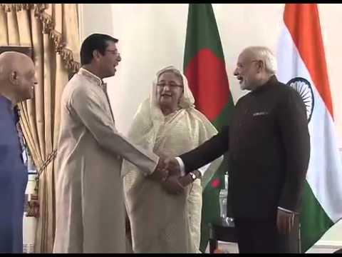 Narendra Modi meets Bangladesh PM Sheikh Hasina in NY
