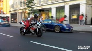 Crazy Superbike Action on the Streets of London!