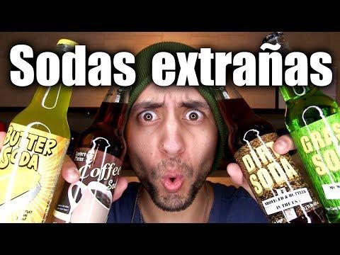 Probando sodas extrañas sabor Tierra, Pasto, Carne, Mantequilla y otras más!!! - ChideeTv
