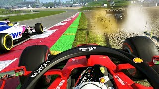DISASTER MID-RACE! CHAOTIC AFTERMATH! - F1 2019 CAREER MODE Part 94