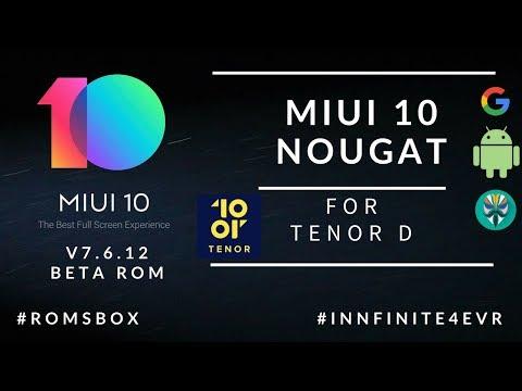 Miui 10 v8.7.12 Global Beta rom for 10or D / Tenor D | Nougat 7.1.2