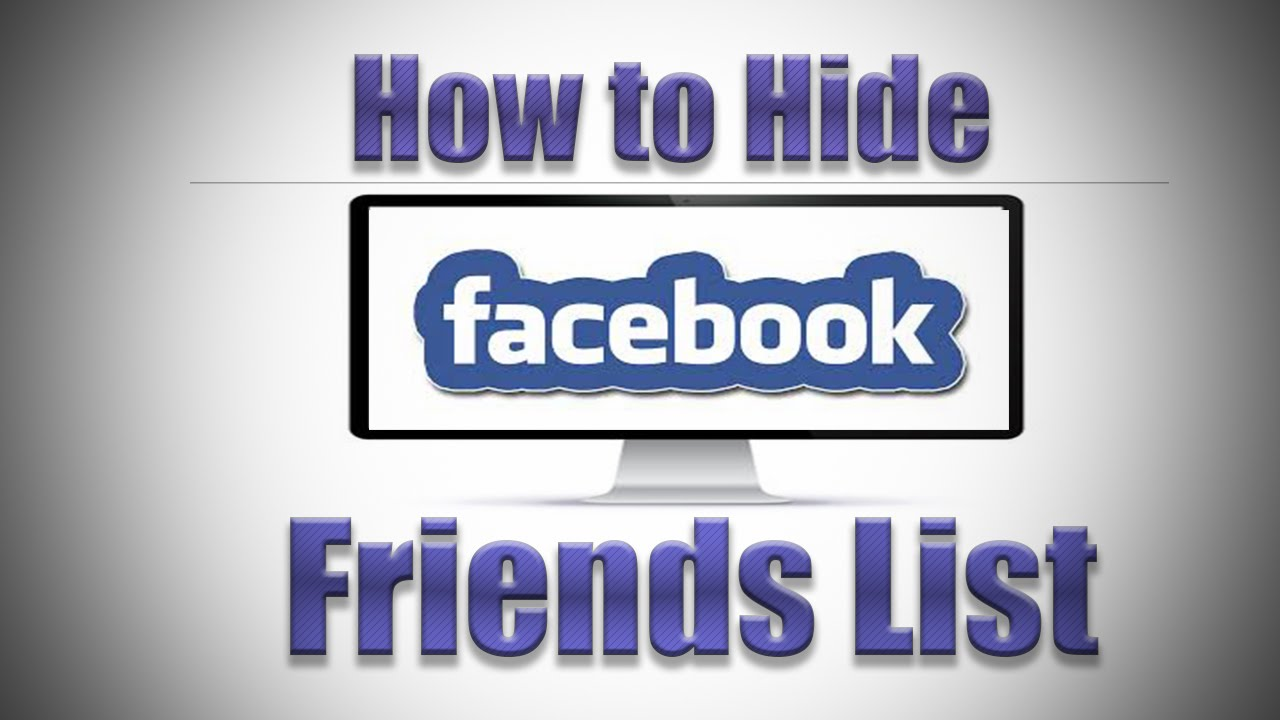 How to Hide Facebook Friends List 2016