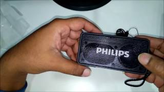 Philips BT64B/94 Portable Bluetooth Speaker Black || Unboxing || First Look || Sound Test ||