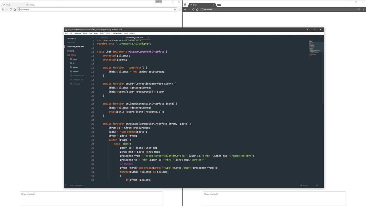 PHP WebSocket Chat - complete tutorial