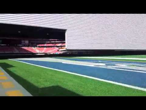 Super Bowl XLIX Field Rolls into University of Phoenix Stadium - FULL EDIT