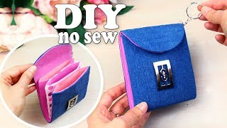 DIY JEANS POUCH IDEA // Jeans Recycle into Wallet Tutorial // Out of old jeans