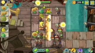 Забираем море у пиратов | Растения против Зомби 2 Пиратские моря: 12 уровень