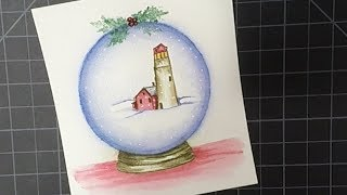 Watercolor Snow Globe | Art Impressions Stamps