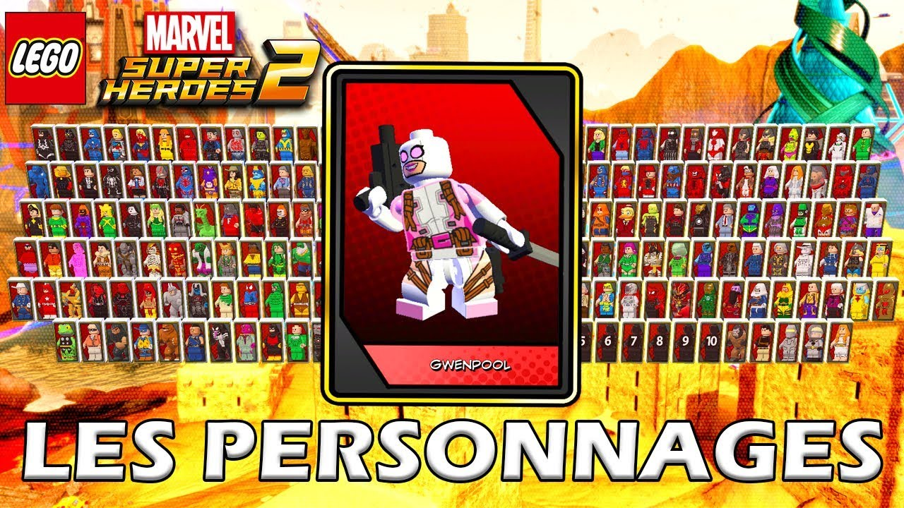 les personnages lego marvel super heroes 2 youtube. Black Bedroom Furniture Sets. Home Design Ideas