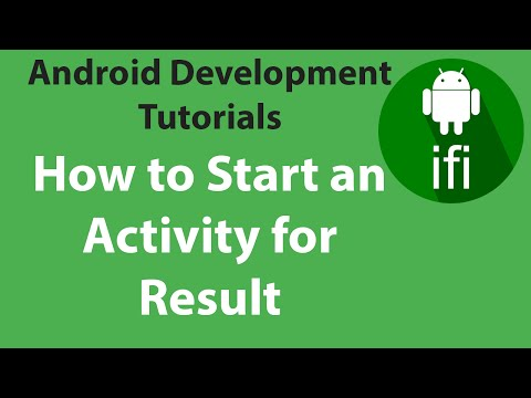(#11) Starting An Activity For Result Android