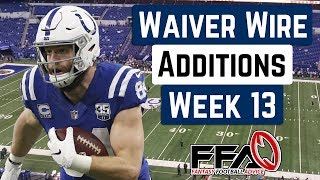 Top Waiver Wire Targets - Week 13 - 2019 Fantasy Football Advice