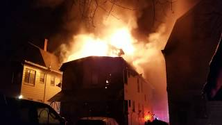 P2 House Fire W/ Heavy Fire Through The Roof FD Audio (Riggs PL) West Orange NJ 2-16-19